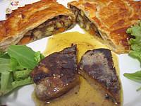 Image : Foie gras et son chausson aux cèpes et panais