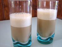Image : Verres de bavaroise au café et au rhum
