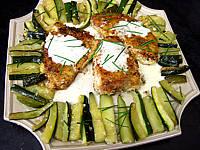 paner : Assiette d'espadon aux courgettes à la noix de coco