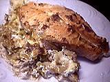 Recette Assiette de gratin de samon au mascarpone
