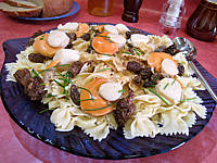 pineau des charentes : Assiette de coquilles saint-Jacques aux farfalle