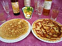 Recette Crêpes au camembert et au jambon
