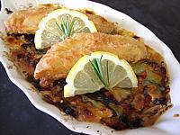Recette Filets de rougets et ses légumes au brie