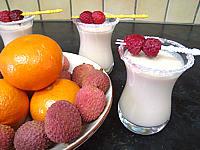 cocktail de crème de framboises