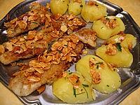 Image : Plat de filets de flétan aux amandes