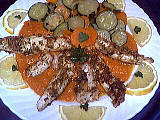 Image : Assiette de filets de sole aux légumes poêlés