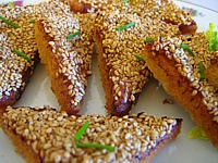 Recette Canapés aux graines de sésame façon chinoise