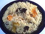 couscous : Assiette de couscous aux fruits secs