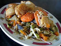 gingembre en poudre : Plat de coquilles saint-Jacques façon chinoise