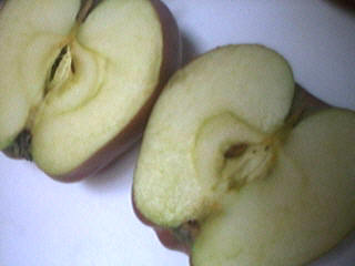 Coupe d'une pomme