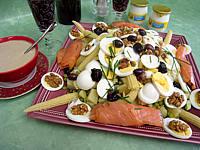 sucre complet : Salade de pommes de terre et saumon en salade