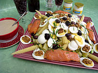Recette Pommes de terre et saumon en salade