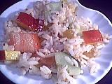 Recette Salade de riz aux pêches