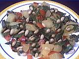 Recette Assiette de salade aux pignons
