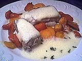 Image : Assiette de roussette sauce vin blanc