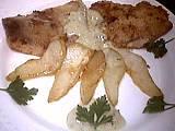 Recette Assiette de lieu aux poires et roquefort