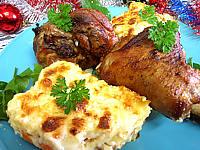 Image : Assiette de souris d'agneau et gratin parmentier aux carottes