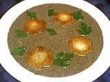 Image : Assiette de velouté de champignons