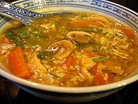 Recette Soupe chinoise aigre et épicée