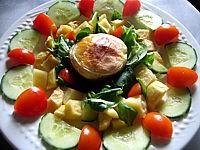 Image : Salade au rocamadour