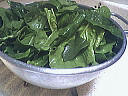 Salade d'épinards tièdes aux moules et son coulis de ciboulette - 11.2