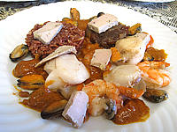 foie gras : Saint-Jacques à la confiture d'échalotes et au foie gras