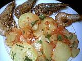 Recette Salade tiède de gambas à la cancoillotte