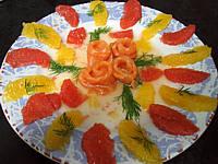 Recette Saumon à l'orange et pomélo