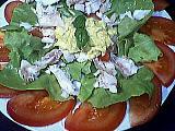 cabillaud : Assiette de salade au cabillaud
