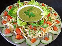 Recette Salade à la Mexicaine et sauce guacamole