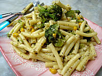 Recette Assiette de macaronis aux brocolis et maïs