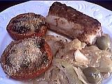 chou blanc : Assiette de roussette aux légumes