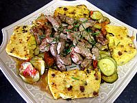 Recette Plat de polenta et foie de veau