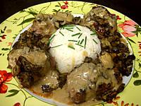 autruche filet : Assiette de pavé d'autruche sauce madère