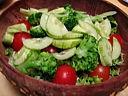 salade de batavia et de riz