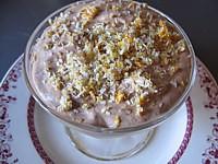crème entière : Coupe de mousse au chocolat et noix de coco