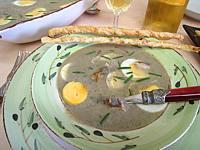 Recette Assiette de velouté de fèves aux harengs