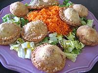 abats de volaille : Assiette de rissoles au foies de volaille
