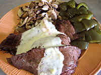 Recette Steaks de cheval et sa sauce au martini blanc