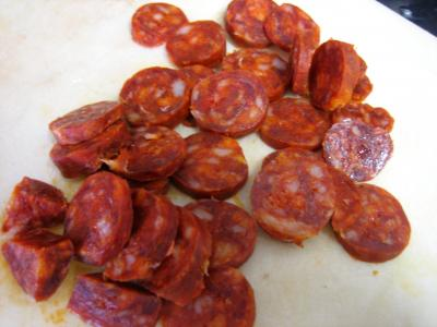 Photo : Chorizo en tranches