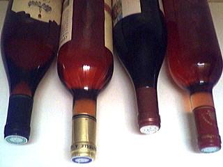 Photo : Quelques bouteilles de vins