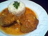 Image : Assiette de poulet au lait de coco