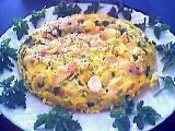 Recette Omelette au saumon et aux pommes de terre