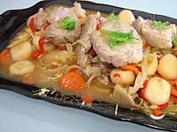Recette Sauté de porc aux châtaignes d'eau