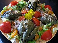 Recette Salade d'artichauts en vinaigrette
