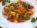 jardinière : Assiette de jardinière de poivrons