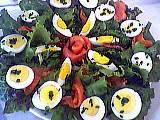 Image : Assiette de salade de saumon fumé