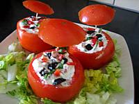Recette Assiette de tomates farcies aux fromages