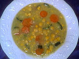 Image : Assiette de potage au maïs