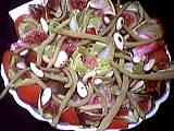 Image : Plat de salade d'endives et jambon